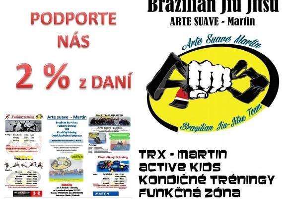 Darujte 2% na rozvoj športovej činnosti v Turci